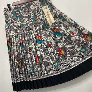 NWT Vintage Castleberry Knits pleated skirt sz 10